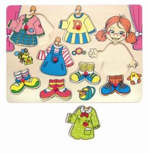 Drewniane puzzle ubieranka Carolinka