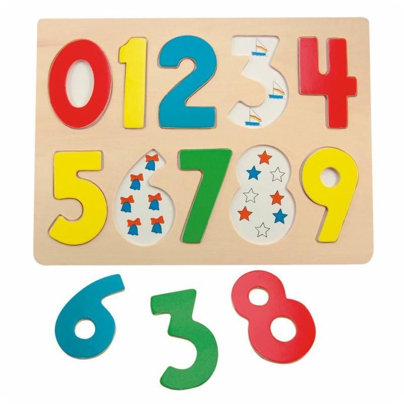 Puzzle wkładanki cyfry
