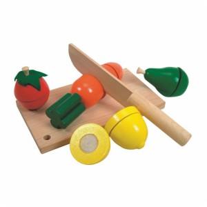 Warzywa drewniane do krojenia + deska