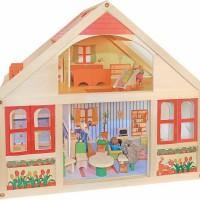 Drewniany domek dla lalek Veronica duży