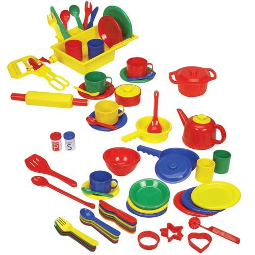 Naczynia i akcesoria kuchenne dla dzieci 71 el.